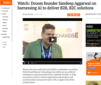 Watch: Droom founder Sandeep Aggarwal on harnessing AI to deliver B2B, B2C solutions